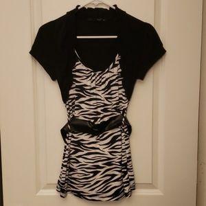Zebra striped tunic